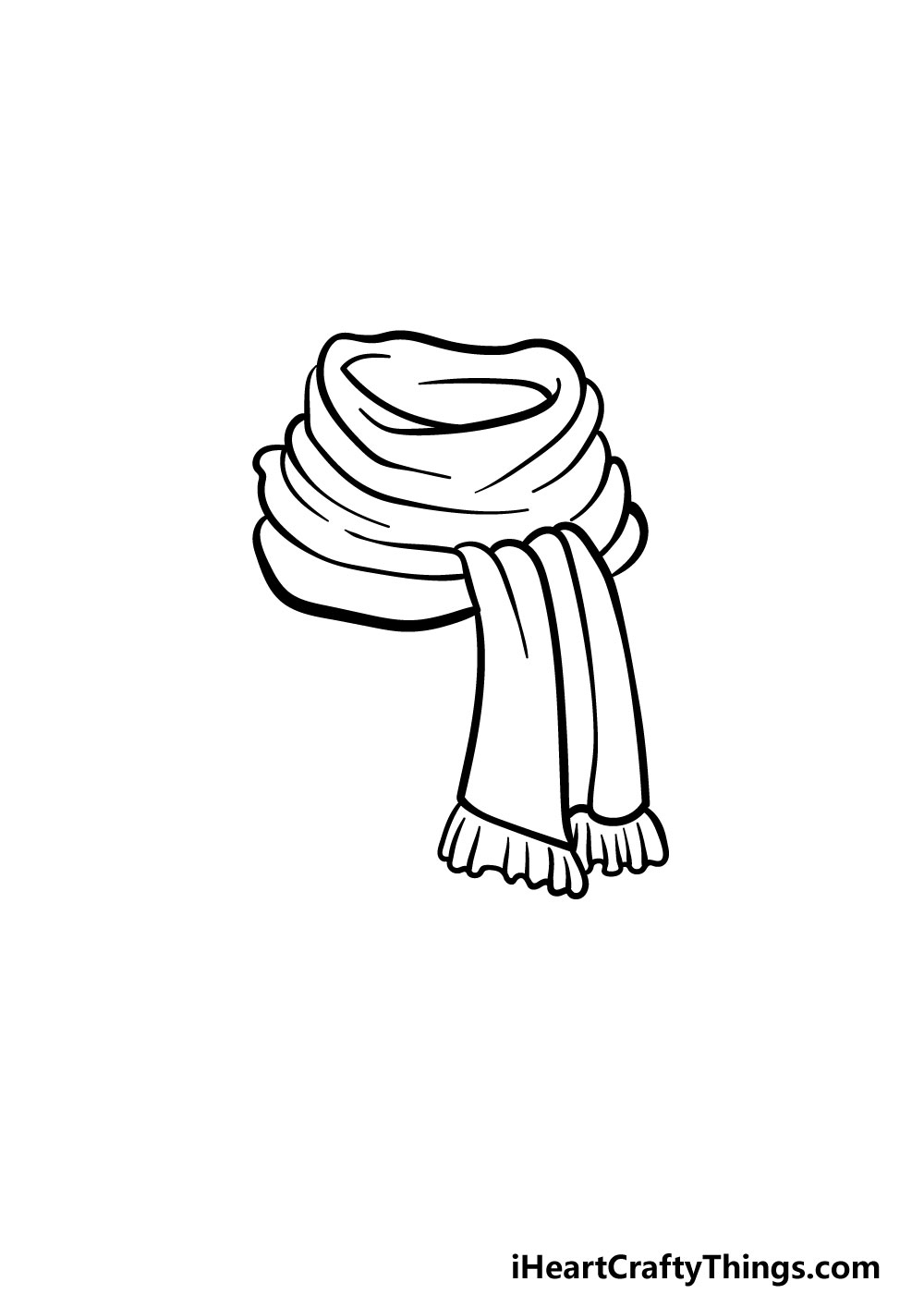 drawing a scarf step 3