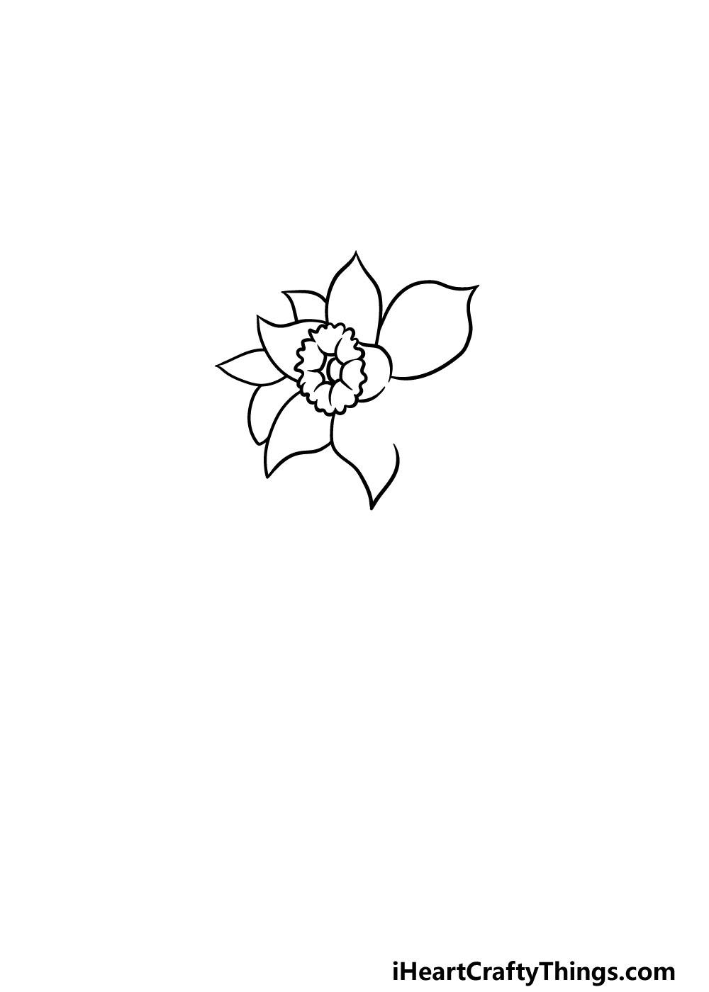 drawing a daffodil step 3