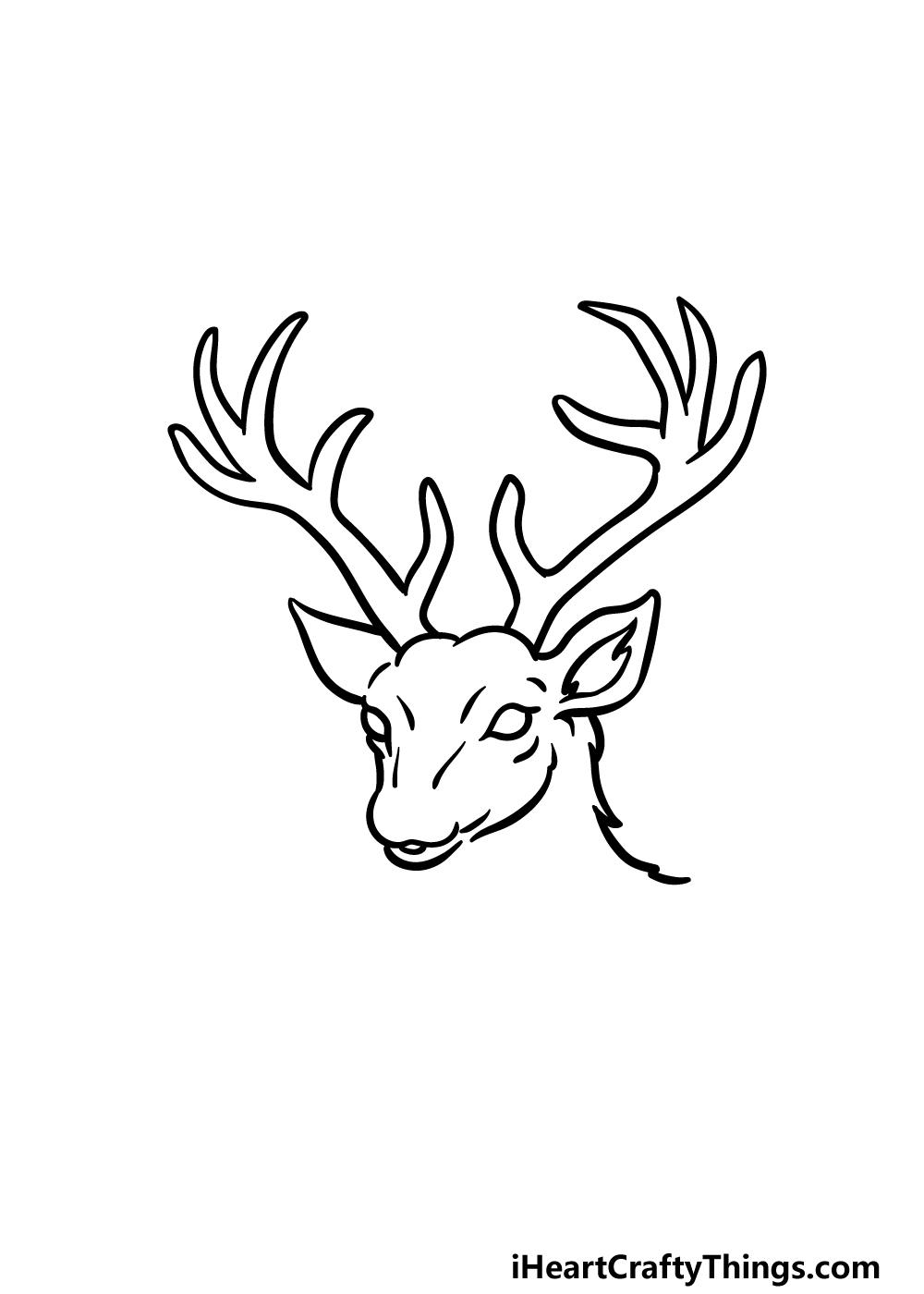 drawing deer's head step 3