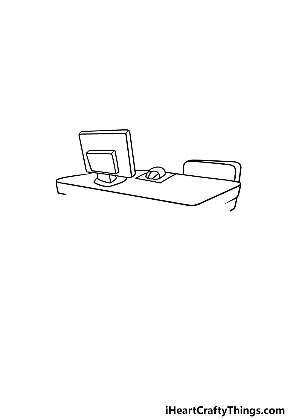 drawing a desk step 3