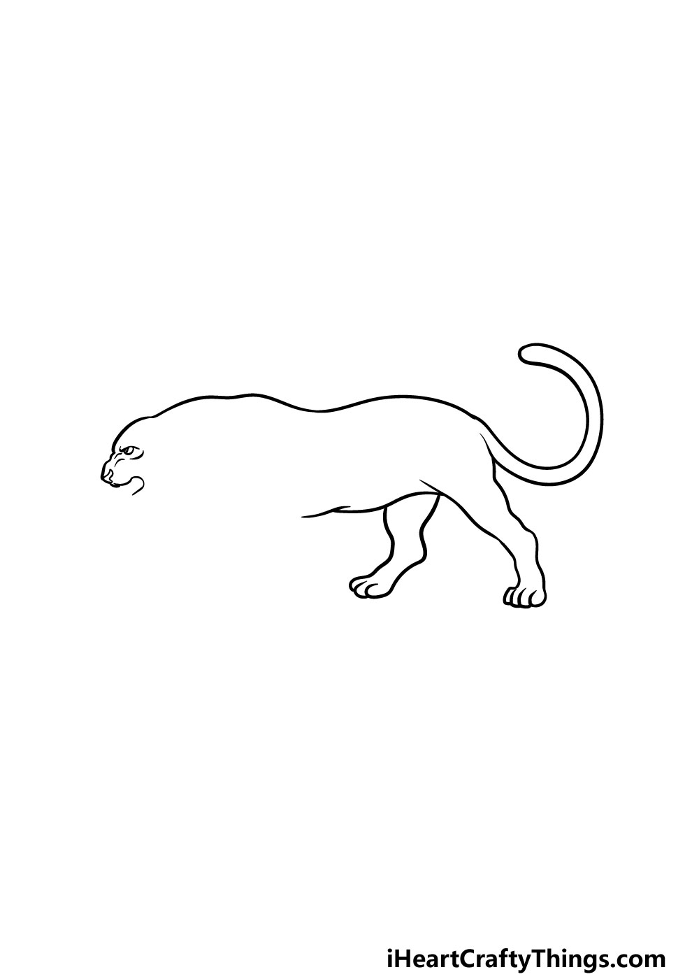 drawing a panther step 3