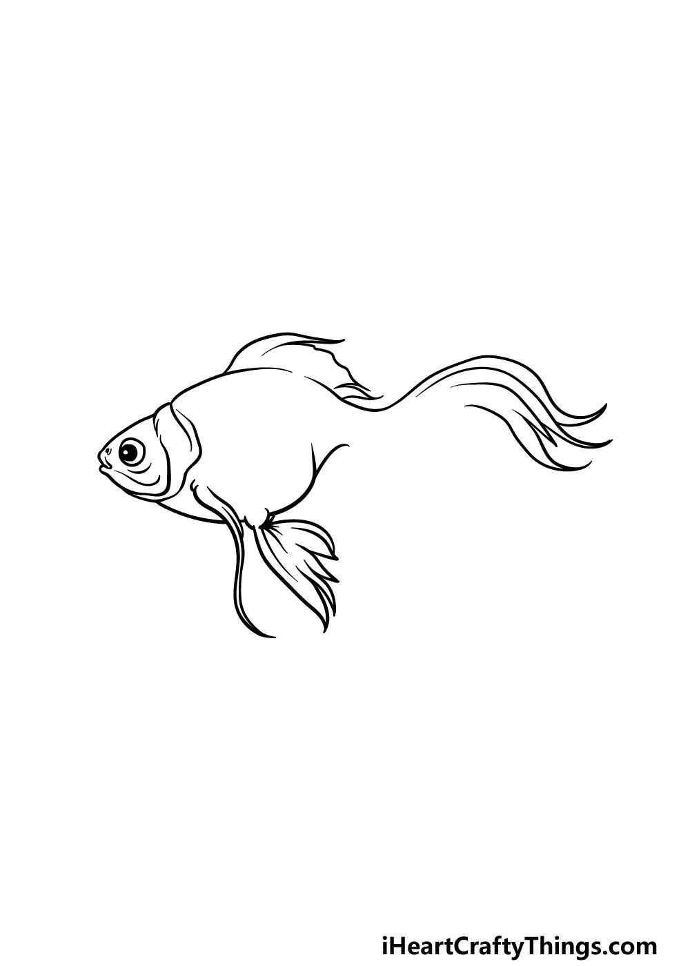 drawing a goldfish step 3
