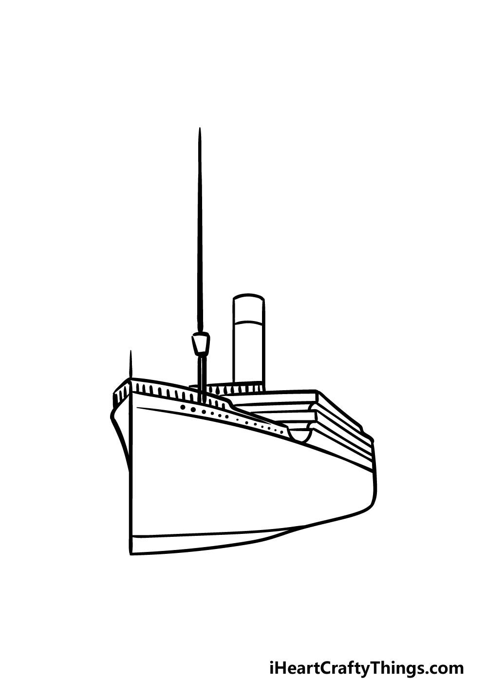 drawing titanic step 3