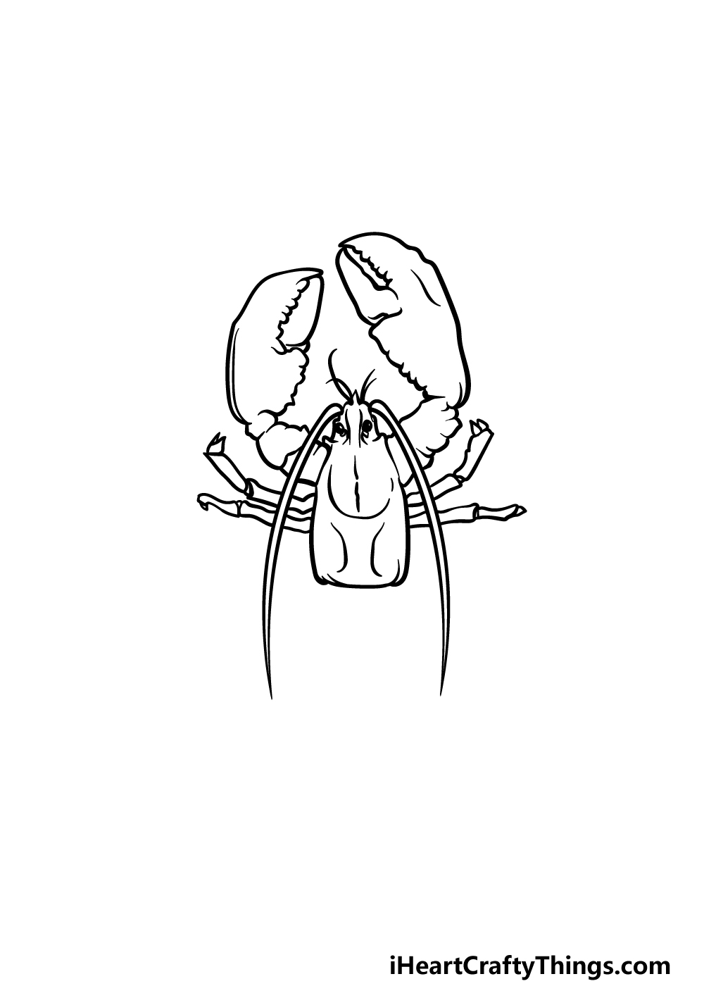 drawing a lobster step 3