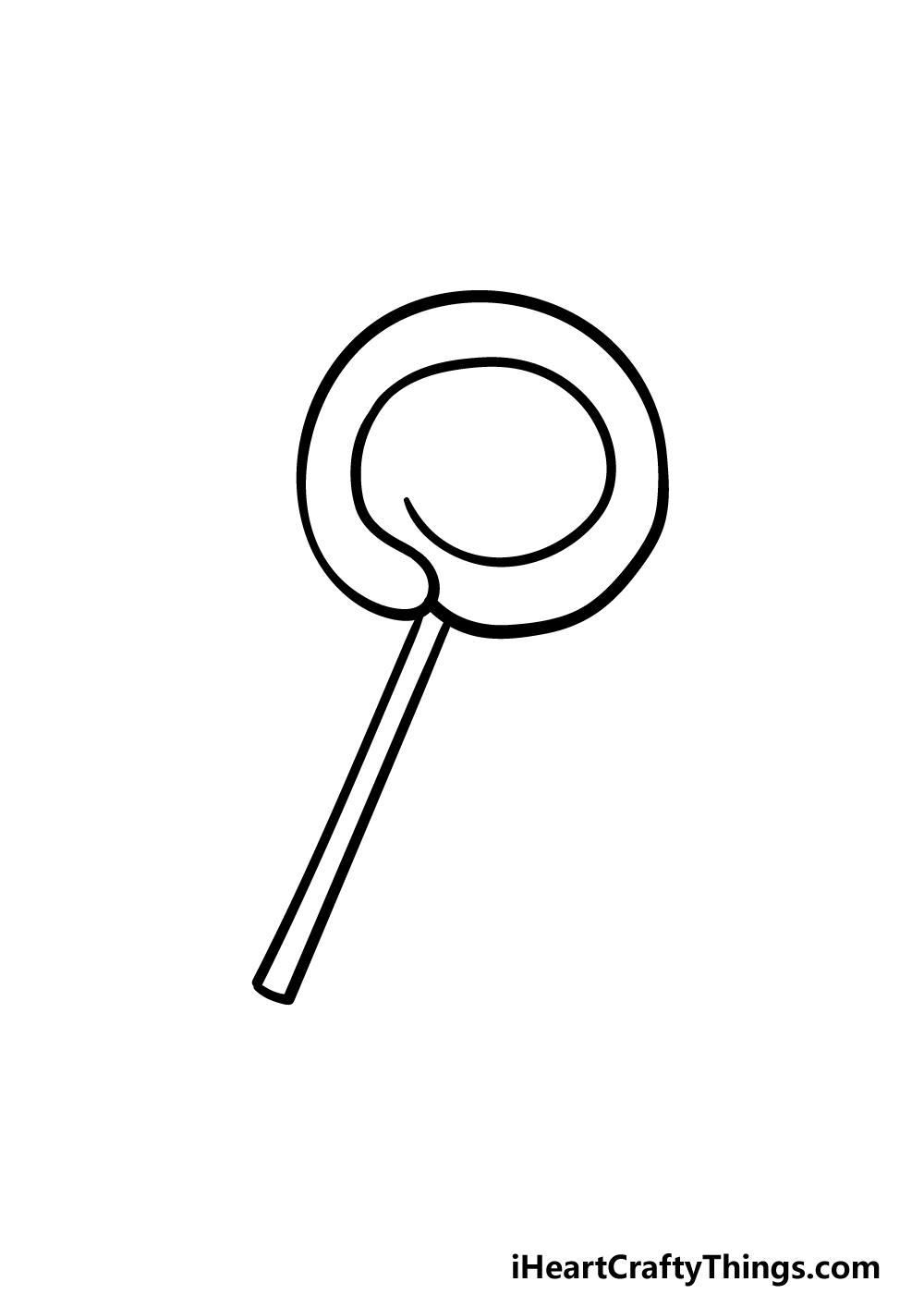 drawing a lollipop step 3