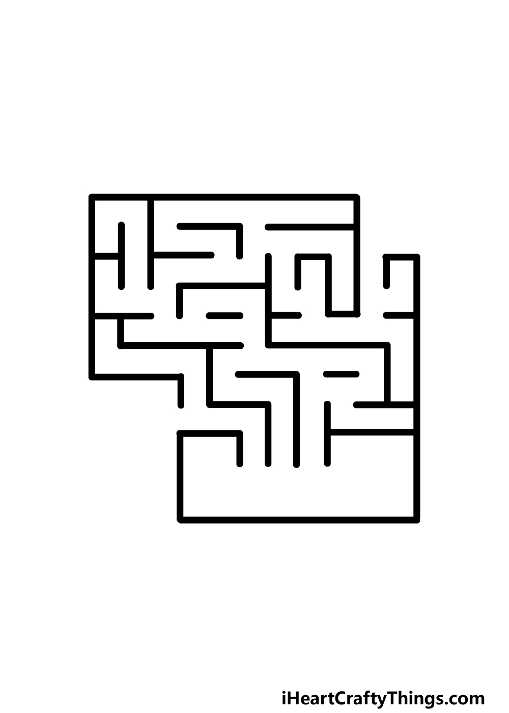 drawing a maze step 3