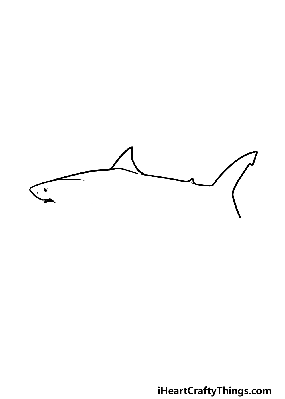 drawing a megalodon step 3