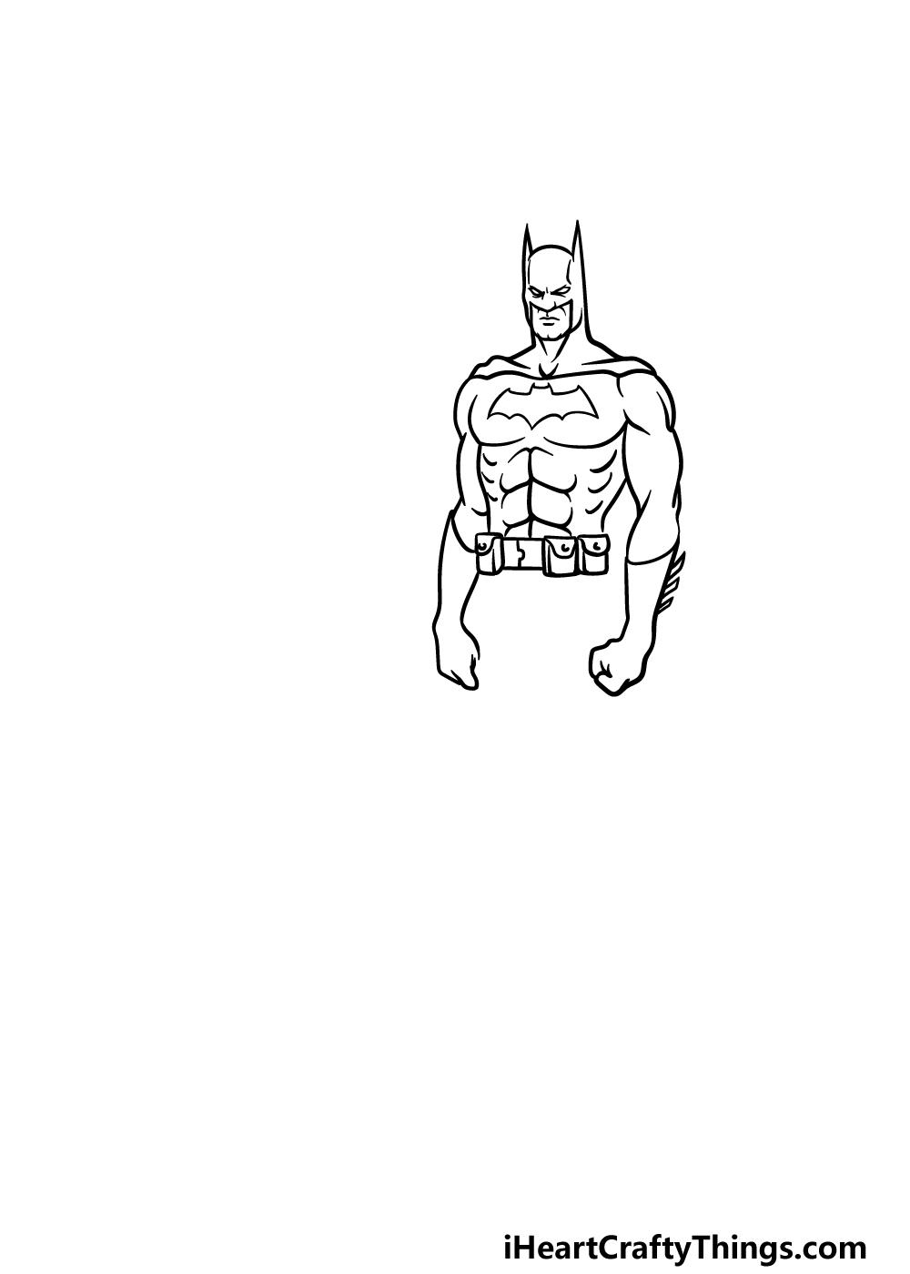 drawing Batman step 3
