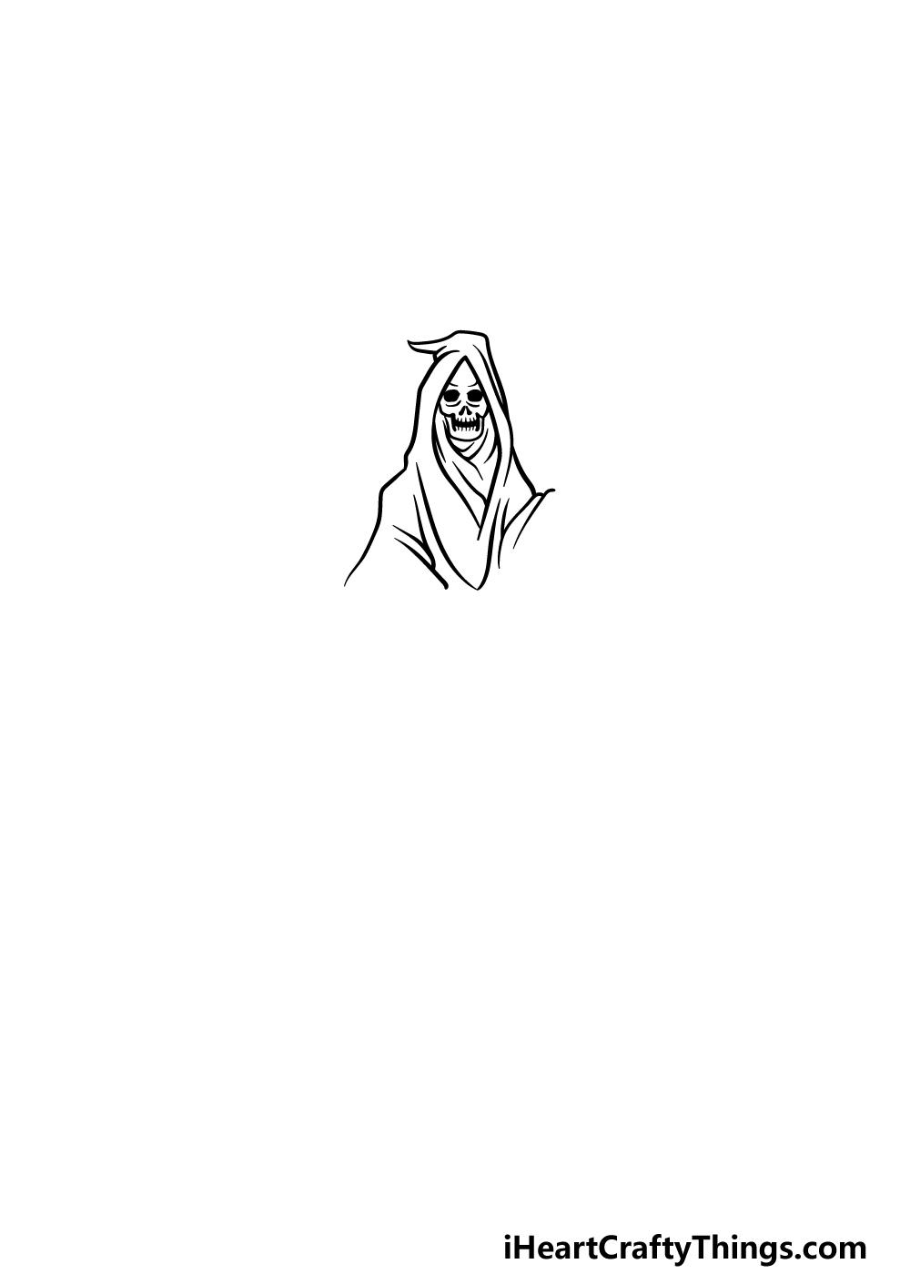 drawing grim reaper step 3