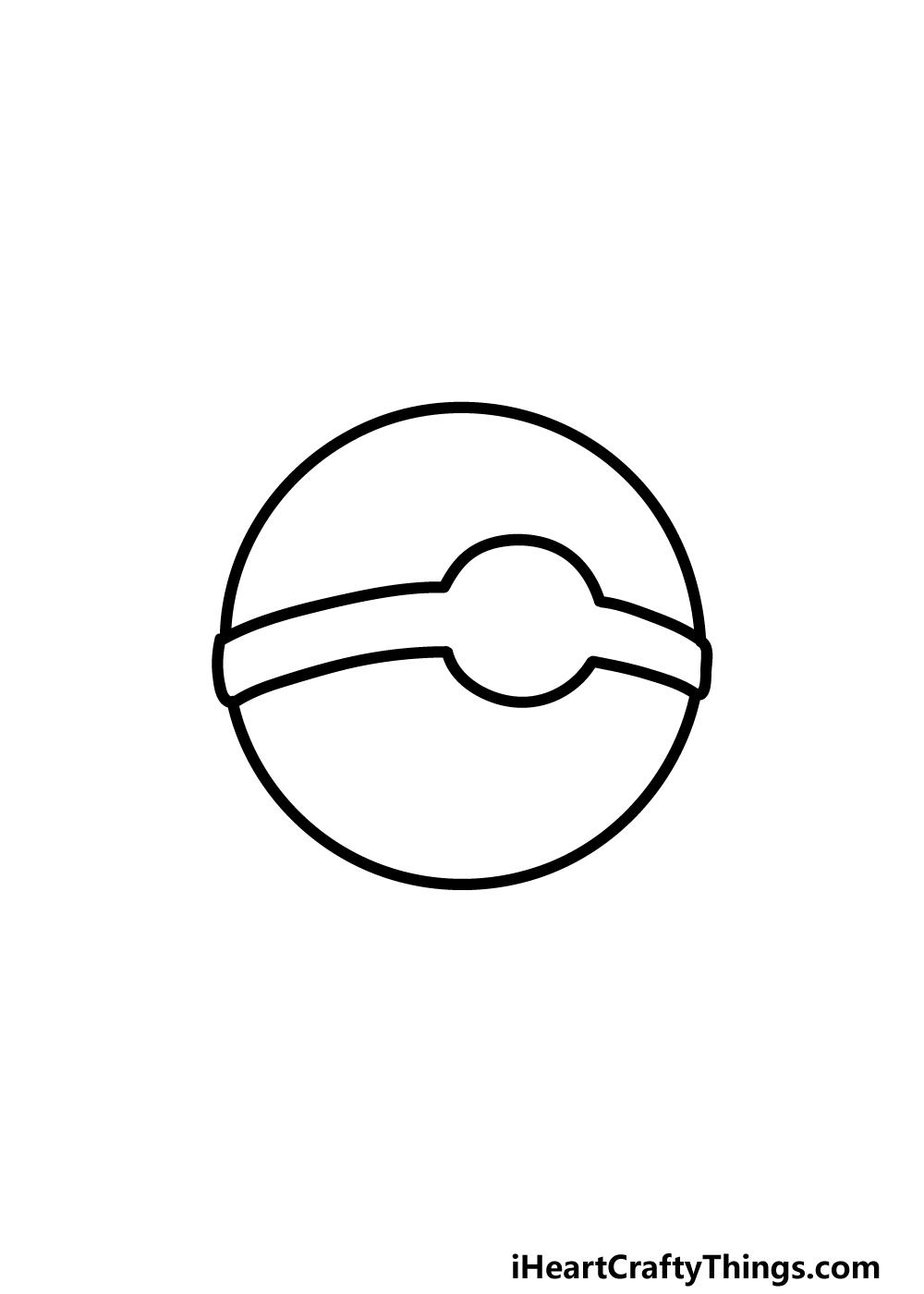 drawing pokeball step 3