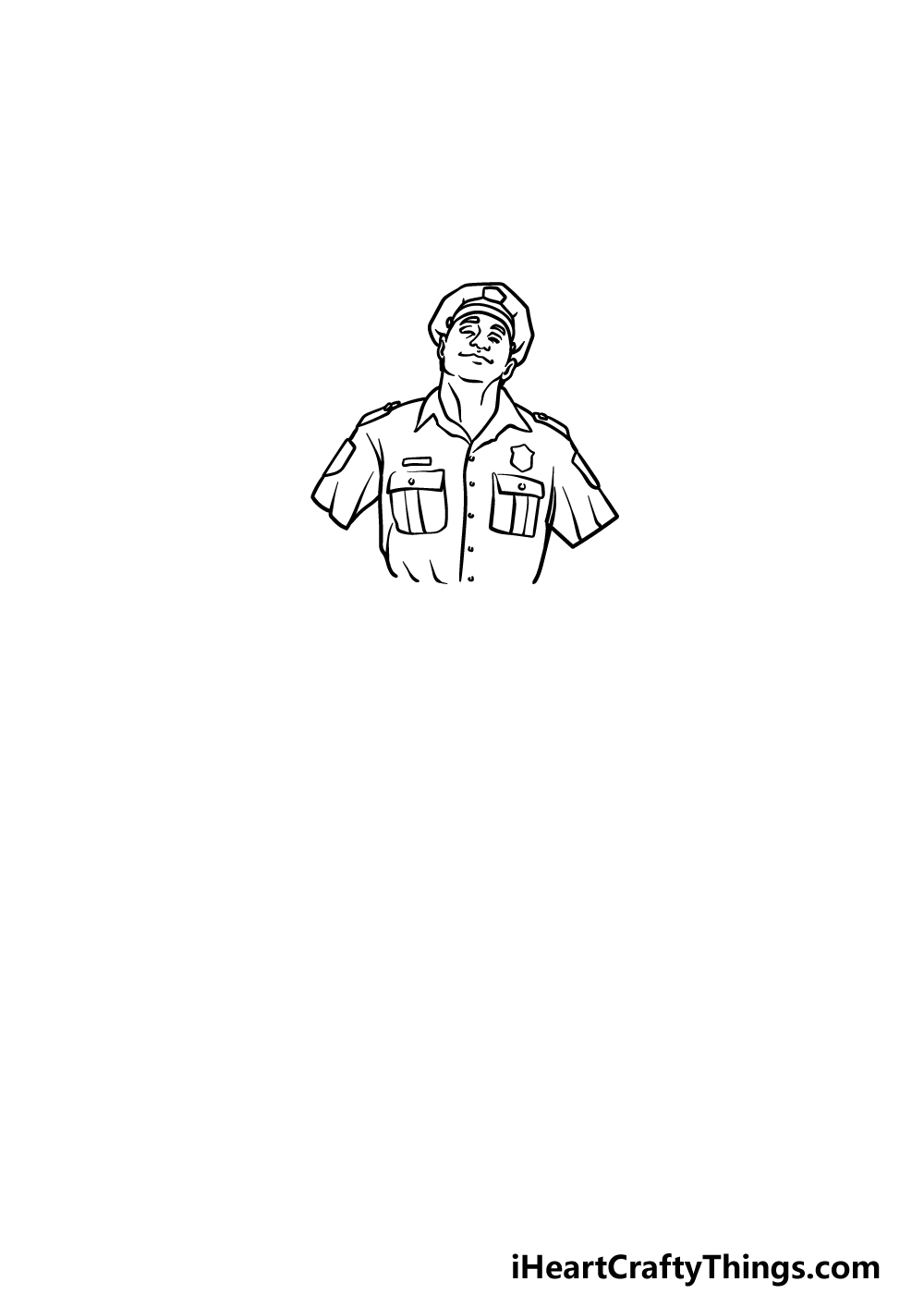 drawing a police officer step 3