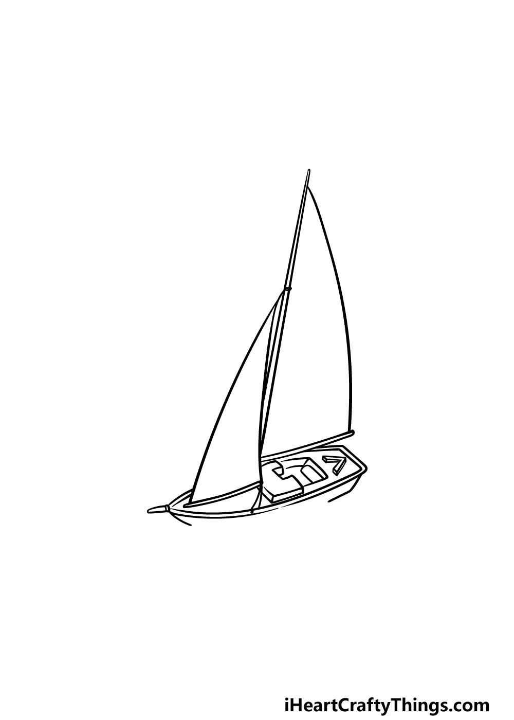drawing a sailboat step 3