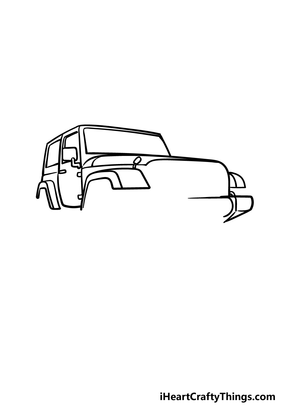 drawing a jeep step 4