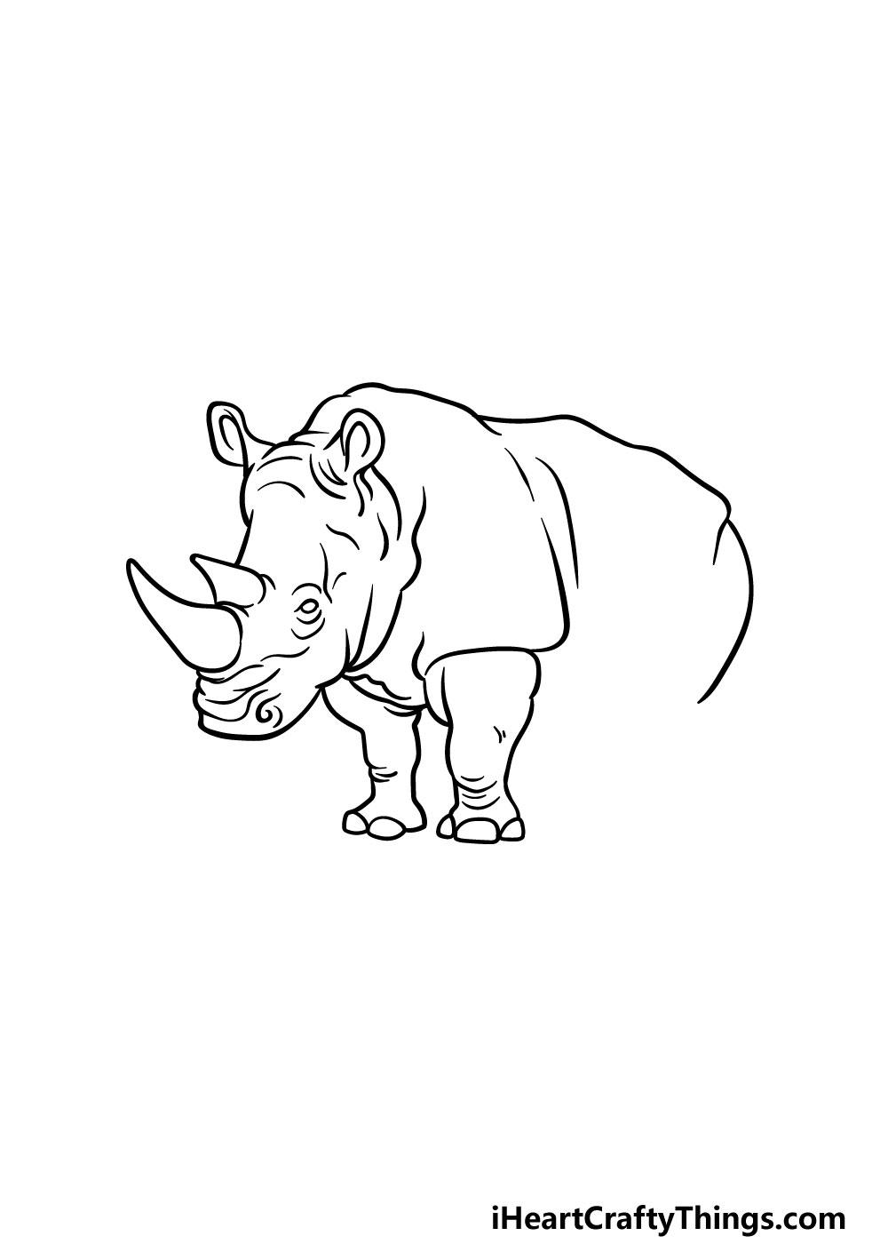 drawing a rhino step 4