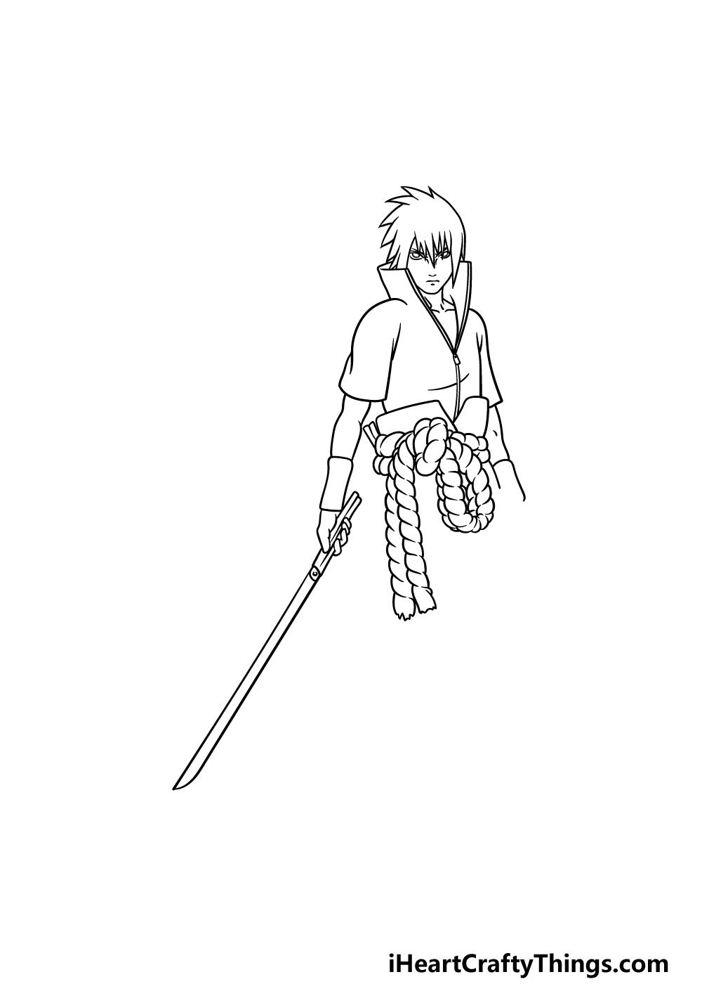 drawing Sasuke step 4