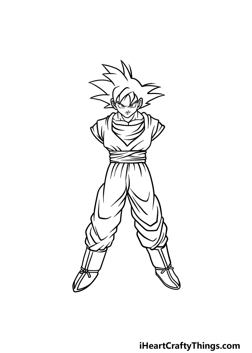 drawing Goku step 4