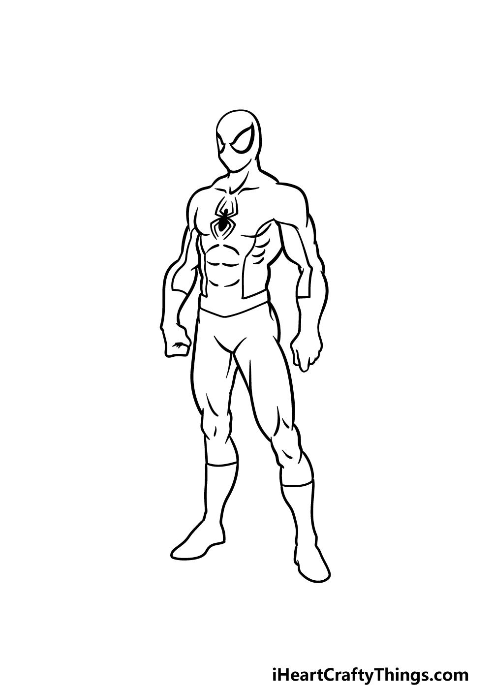 drawing Spiderman step 4