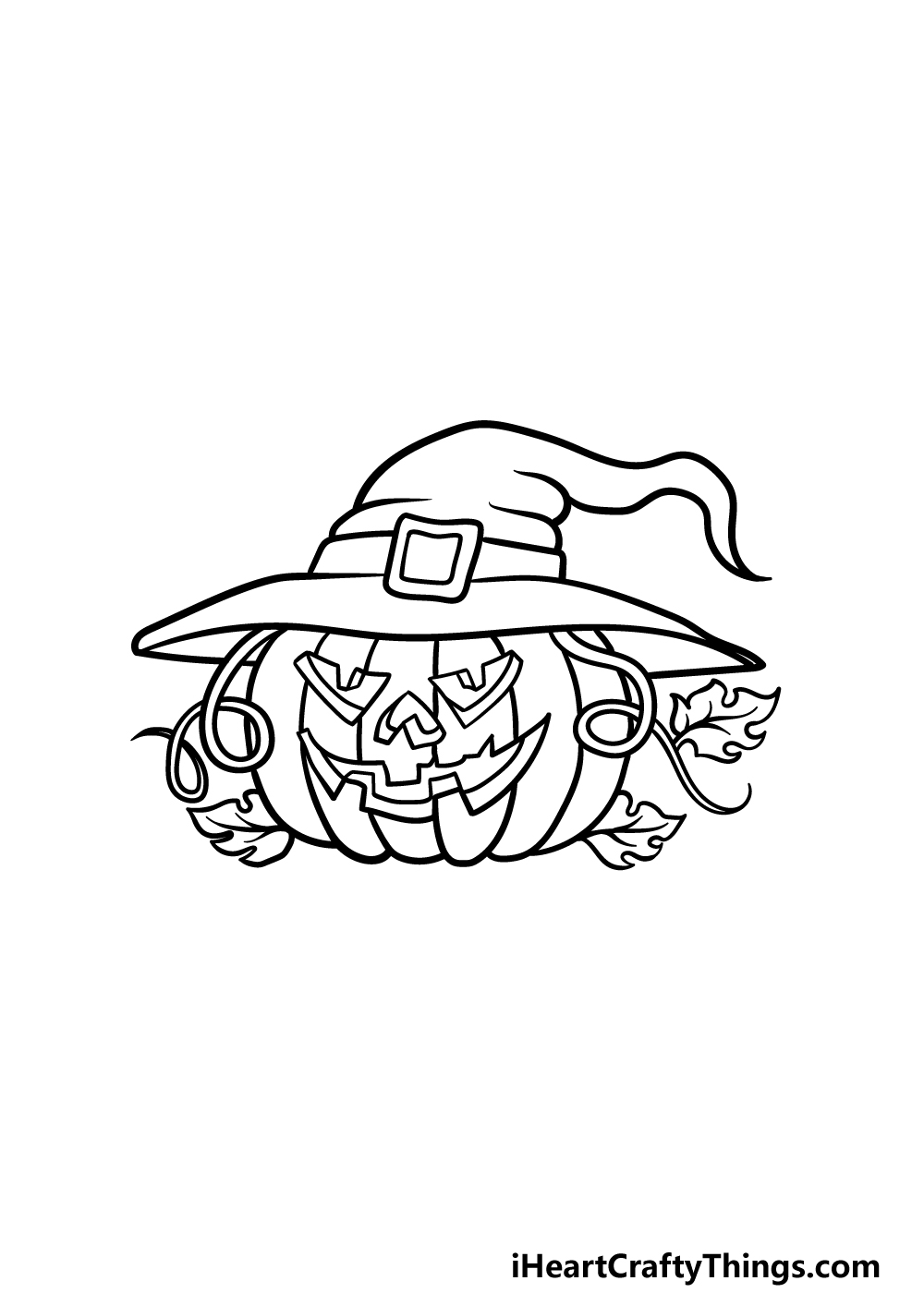 drawing Halloween step 4