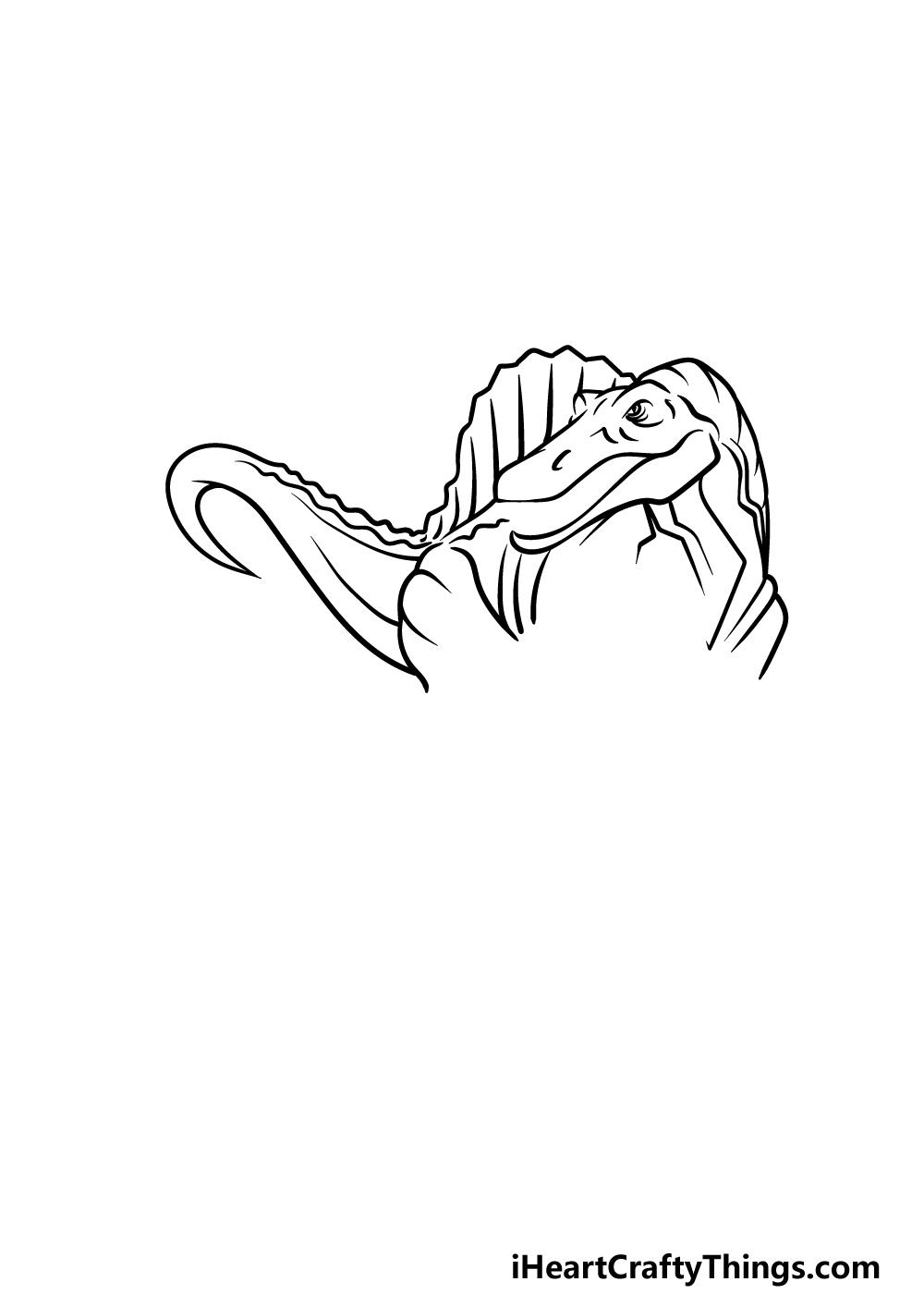 drawing Spinosaurus step 4