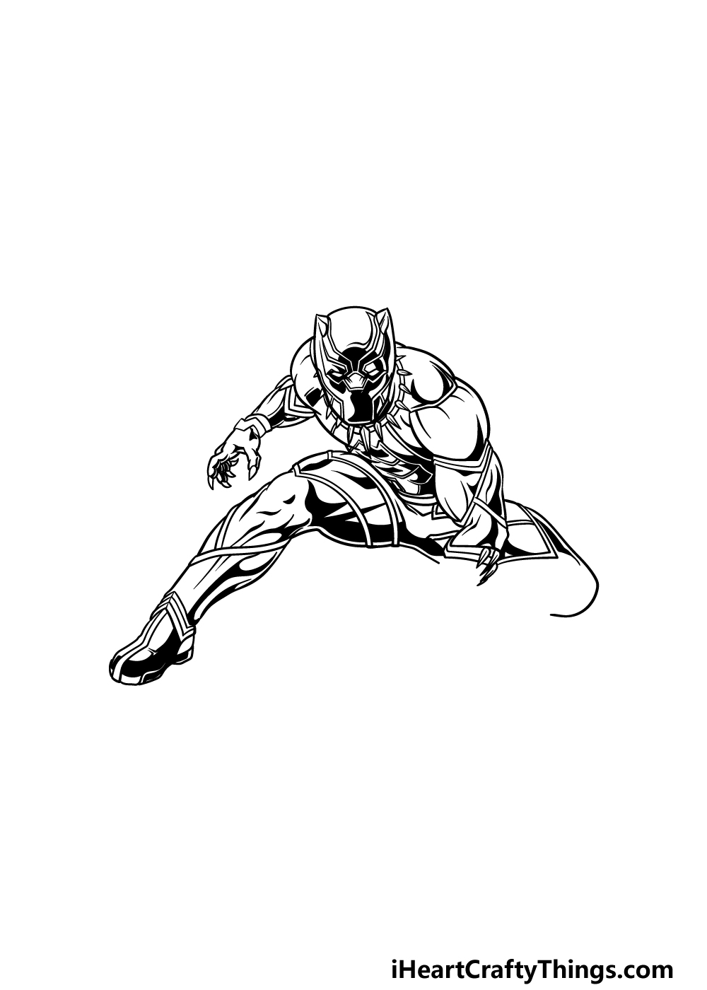 drawing Black Panther step 4
