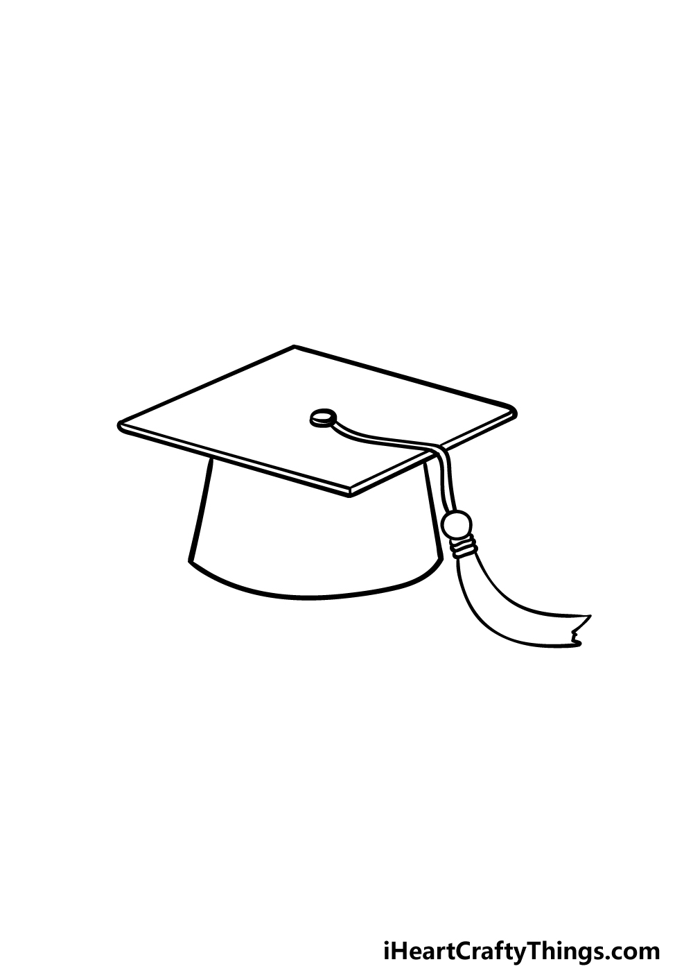 drawing Graduation Hat step 4