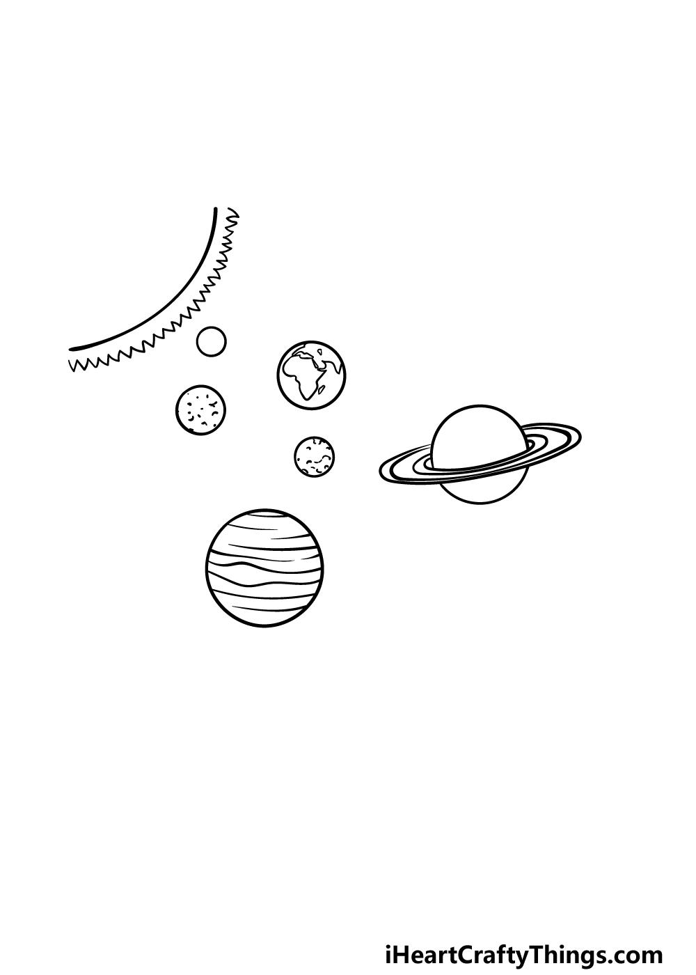drawing solar system step 4