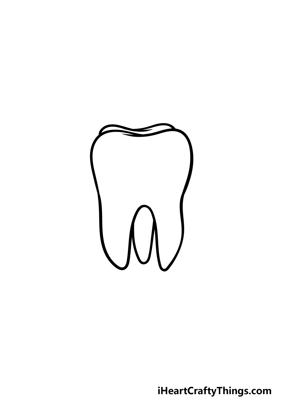 drawing a tooth step 4