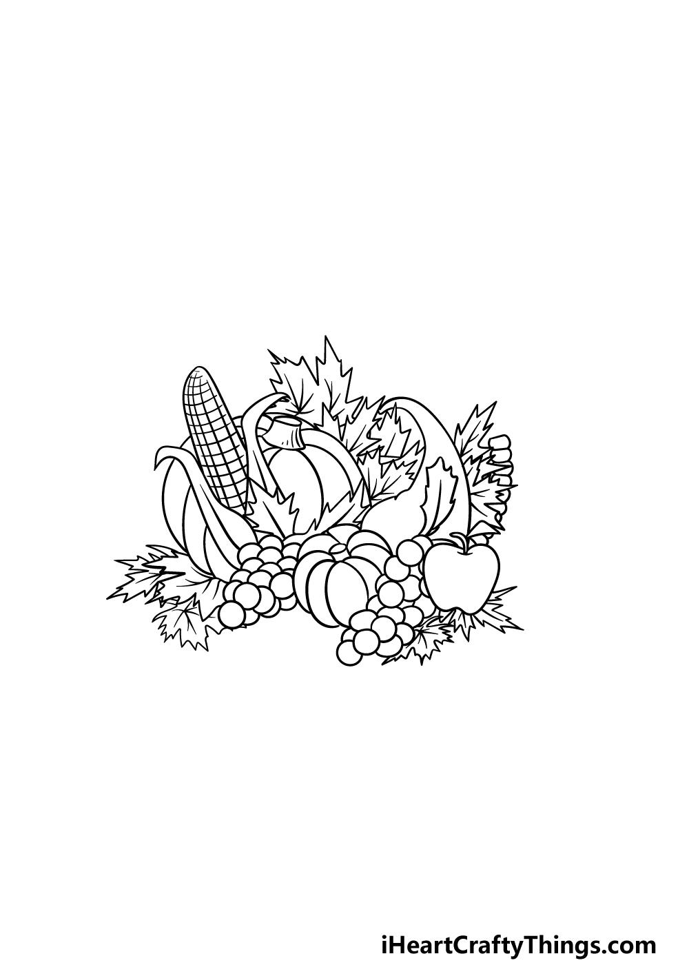 drawing Thanksgiving step 4