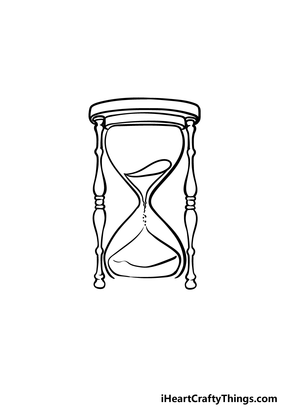 drawing an hourglass step 4