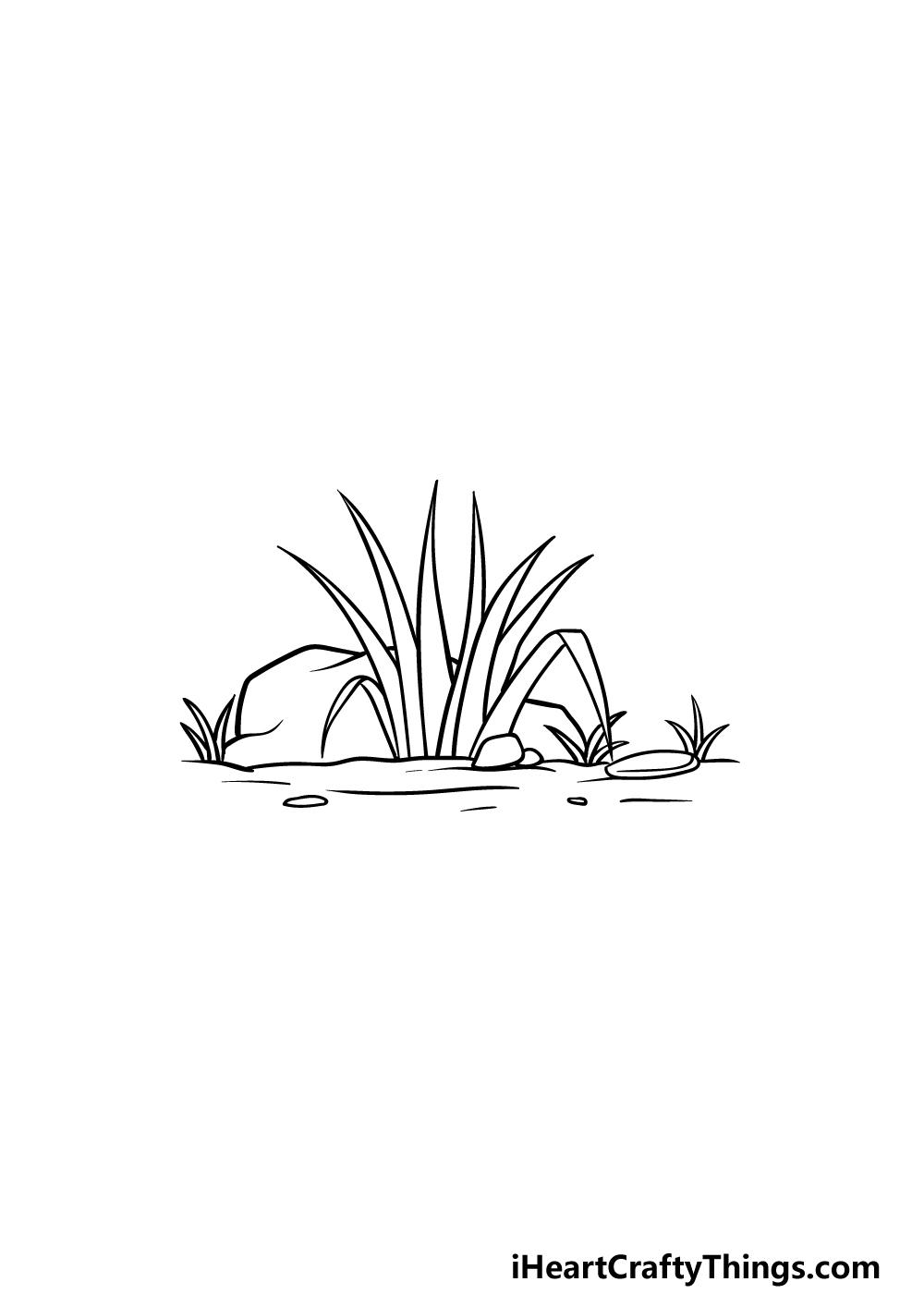 drawing grass step 4
