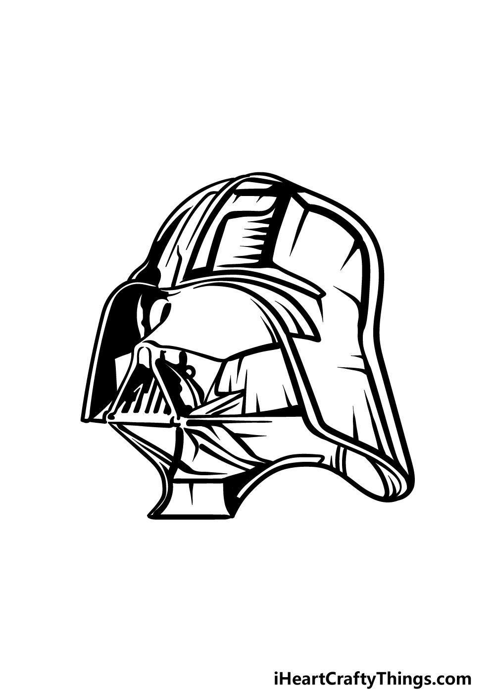 drawing Darth Vader step 4