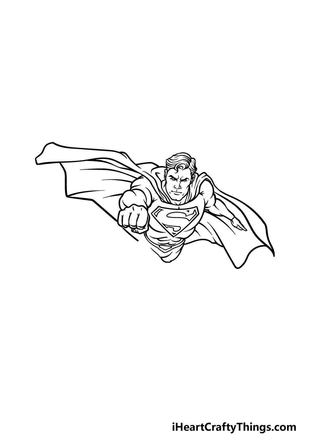 drawing Superman step 4