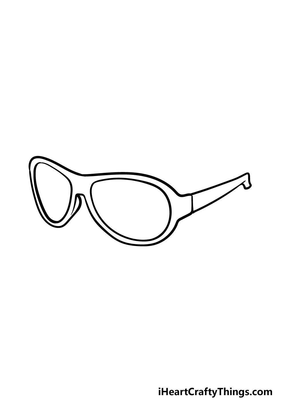 drawing sunglasses step 4