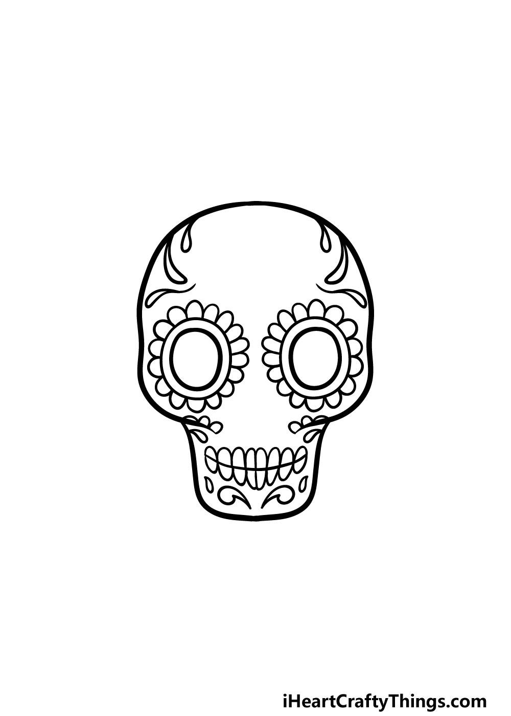 drawing a sugar skull step 4