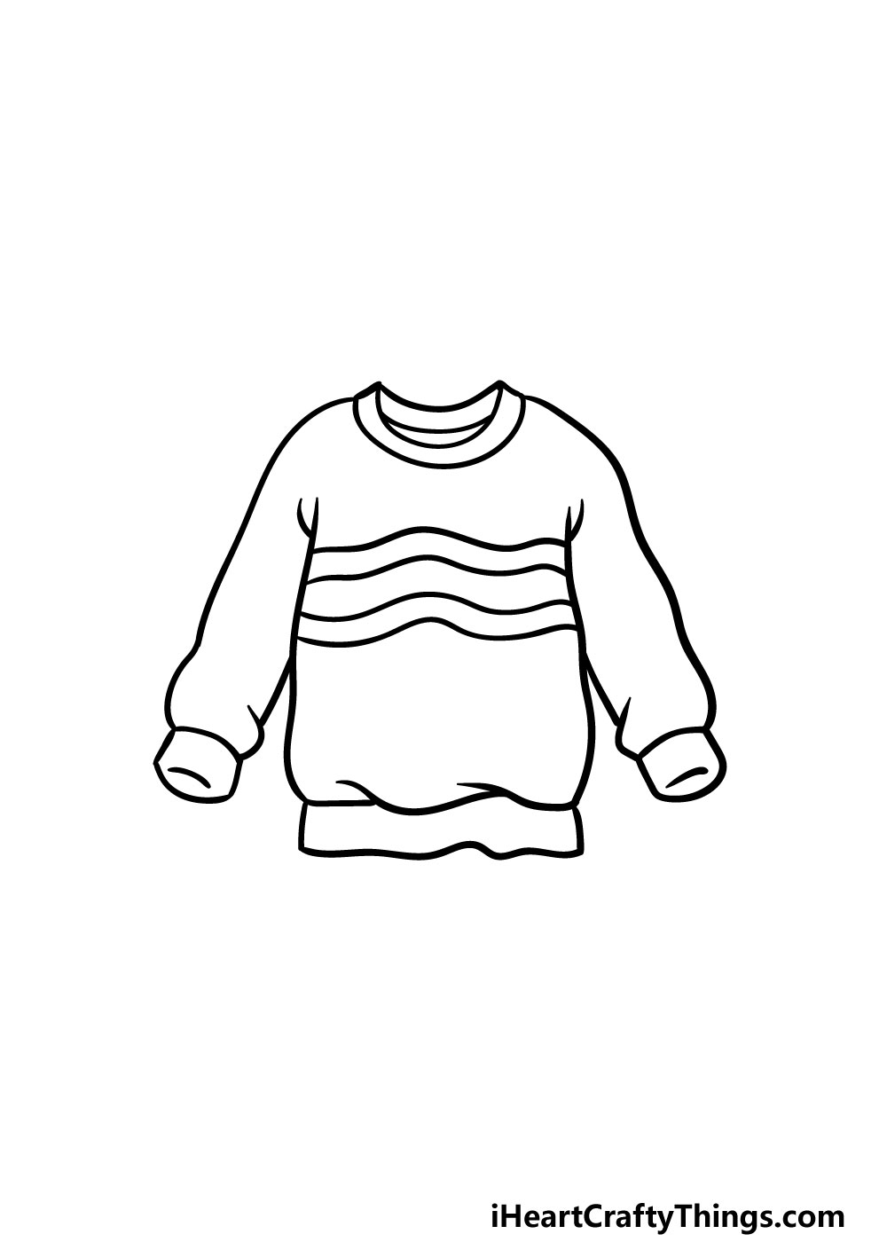 drawing a sweater step 4