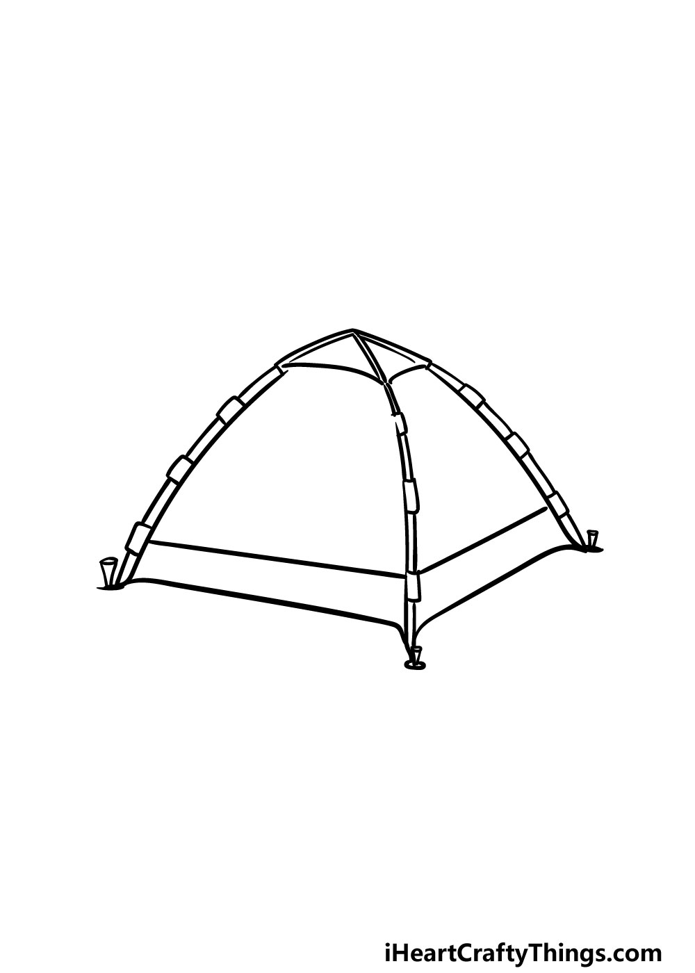 drawing a tent step 4