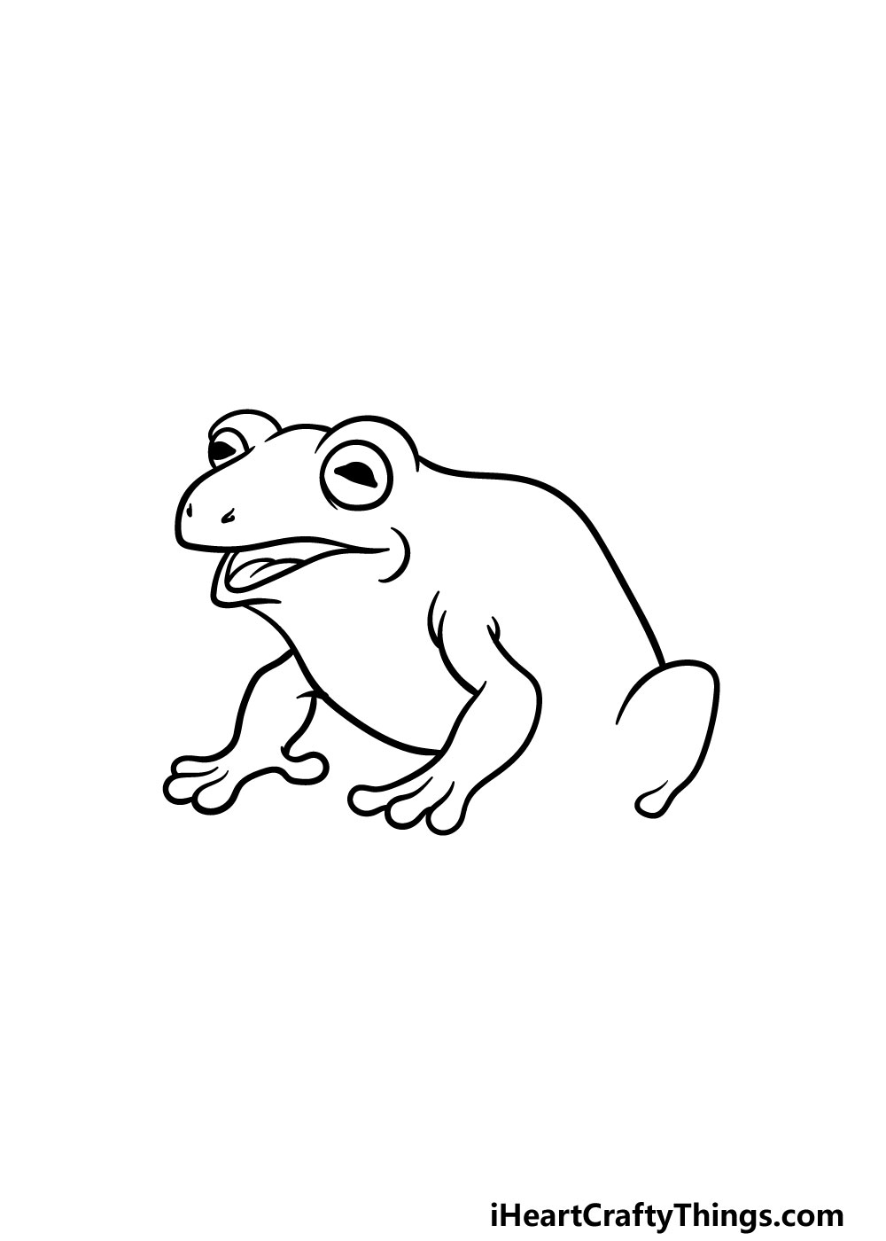 drawing a toad step 4