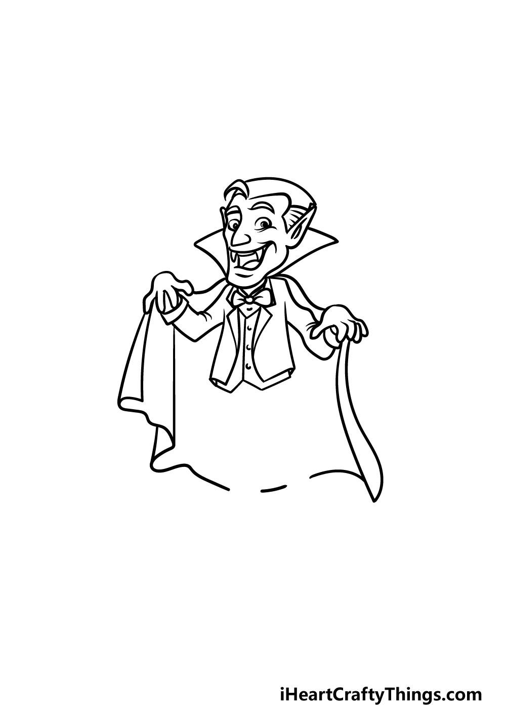 drawing a vampire step 4