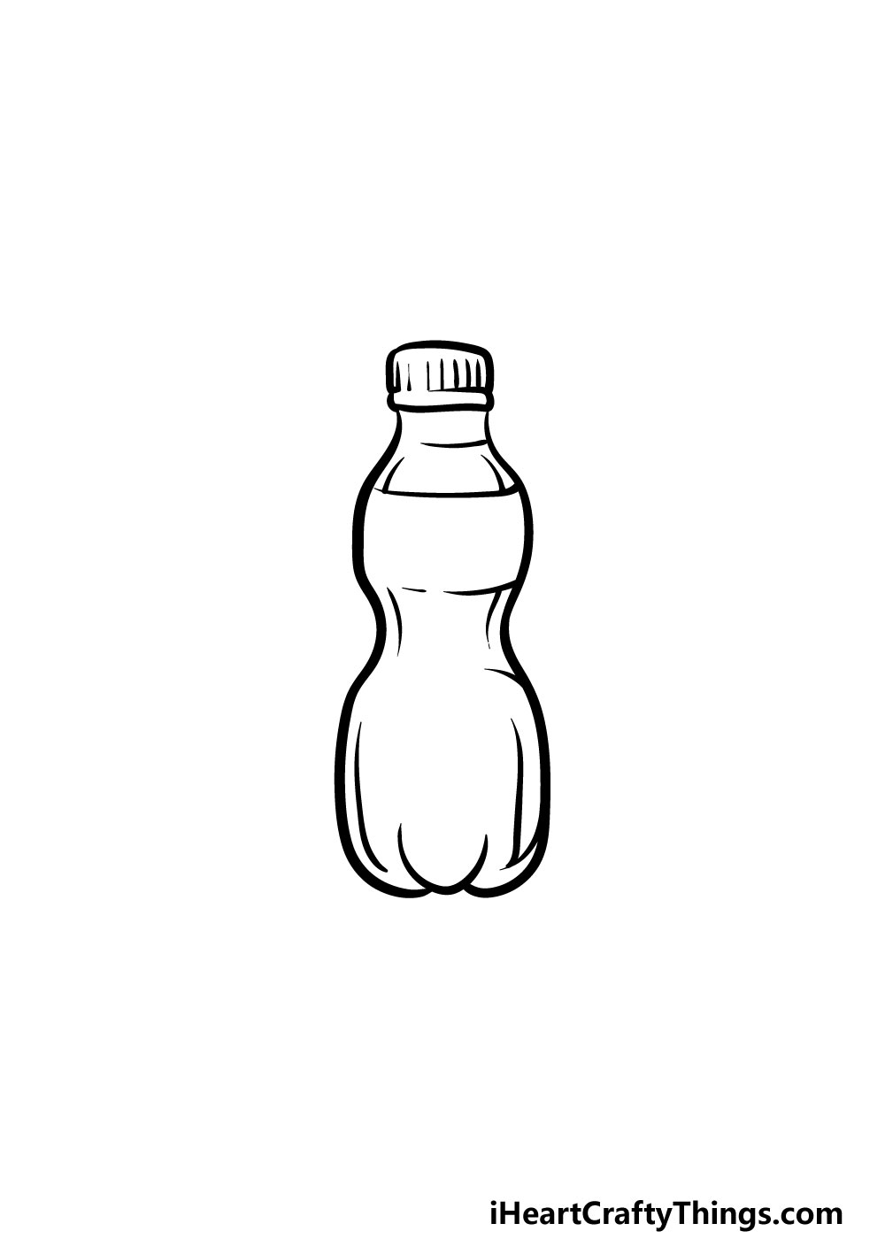 drawing a water bottle step 4