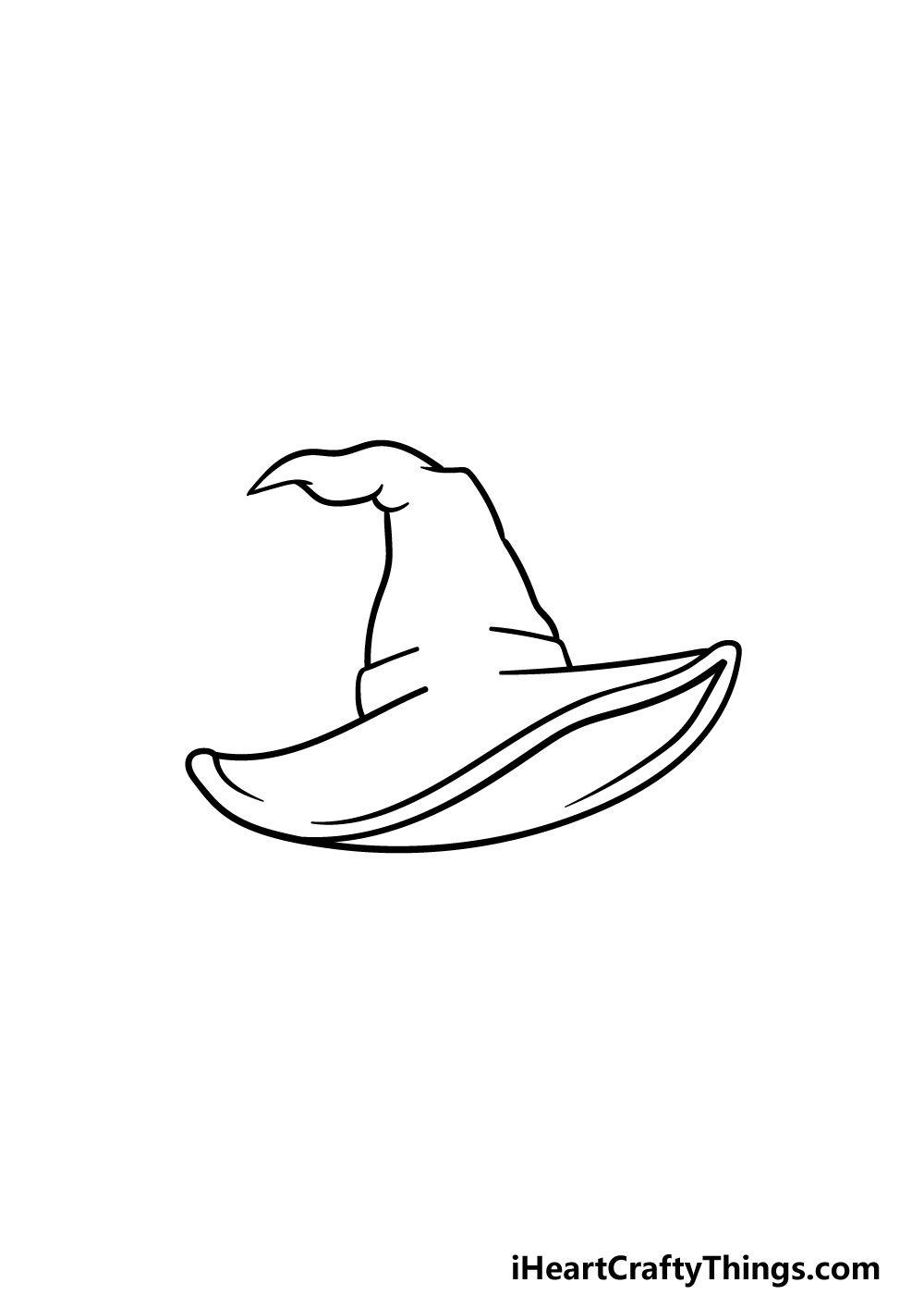drawing a witch hat step 4