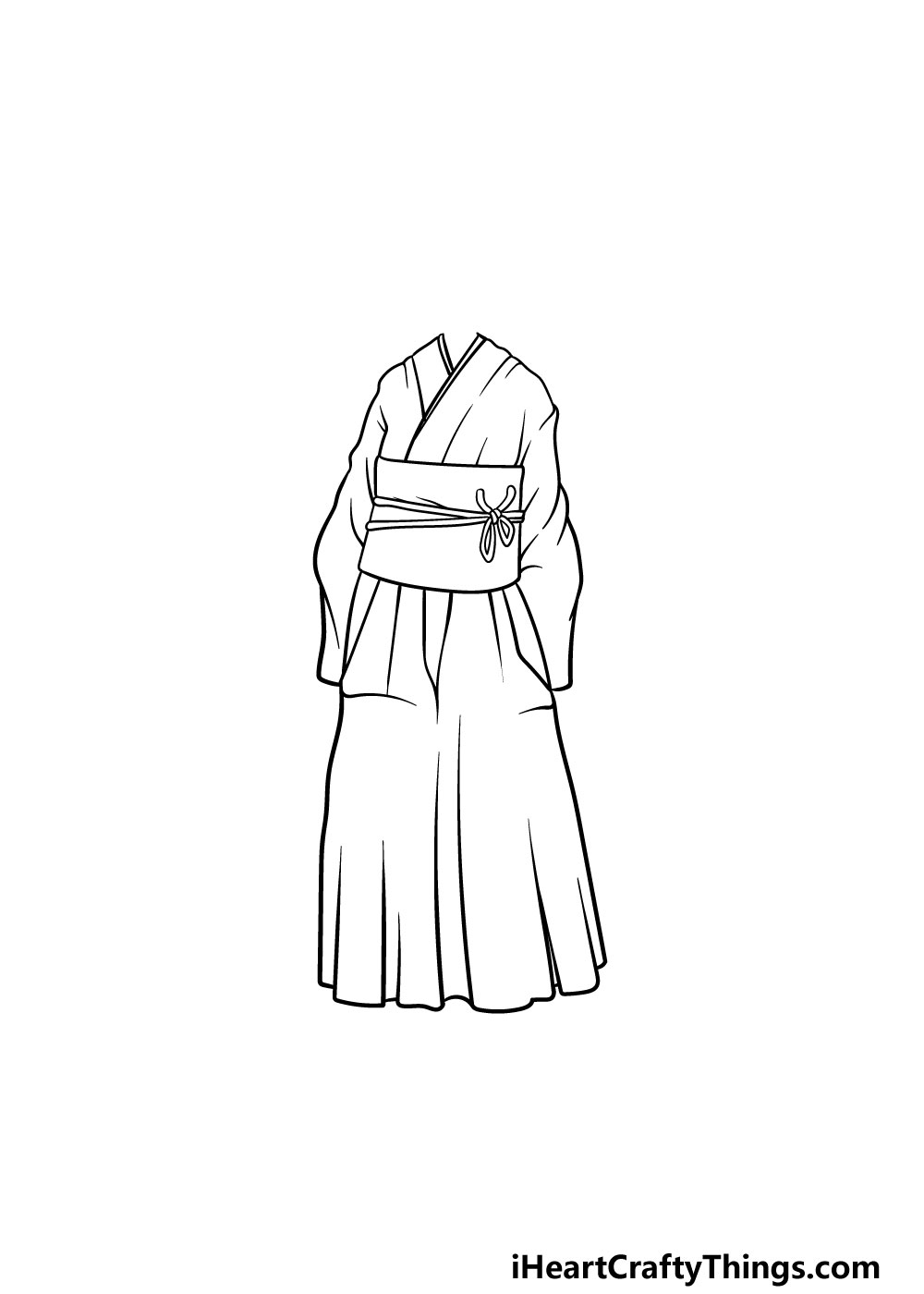 drawing anime clothes step 4