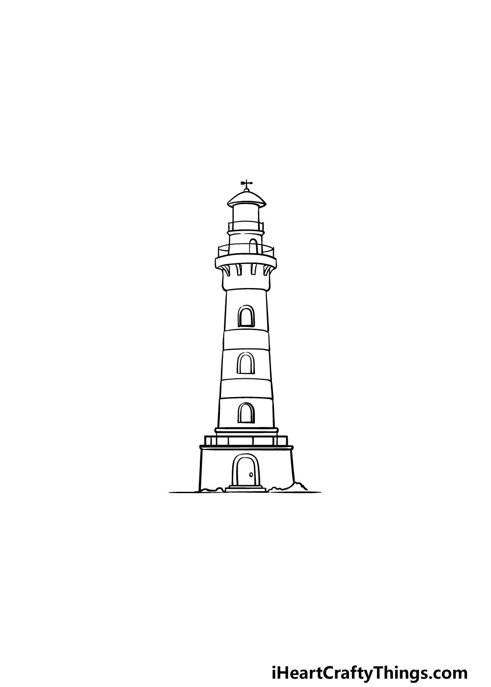vẽ ngọn hải đăng bước 4