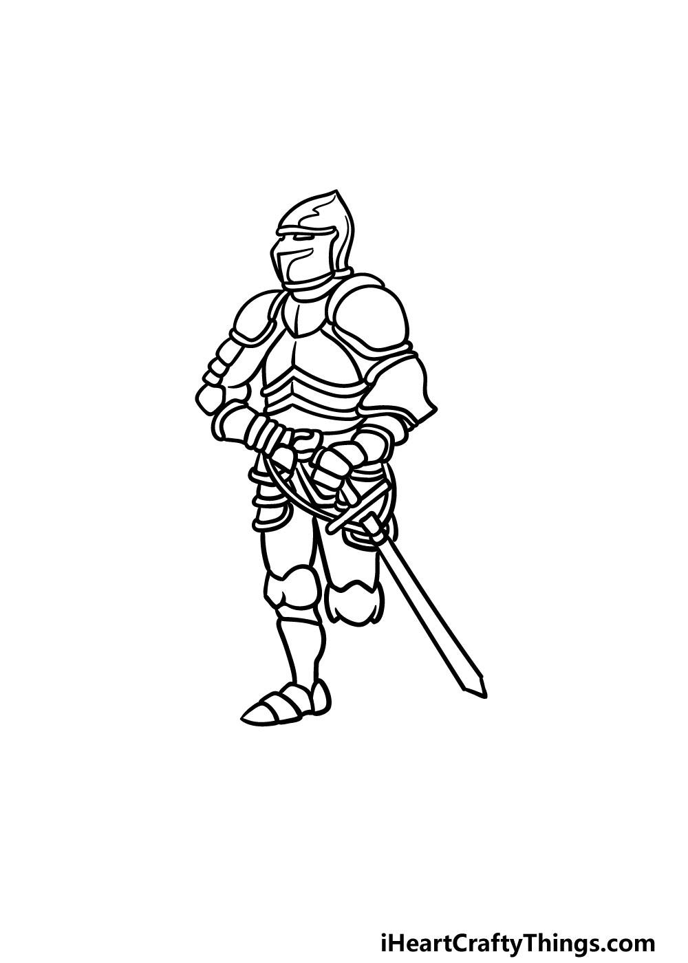 drawing armor step 4