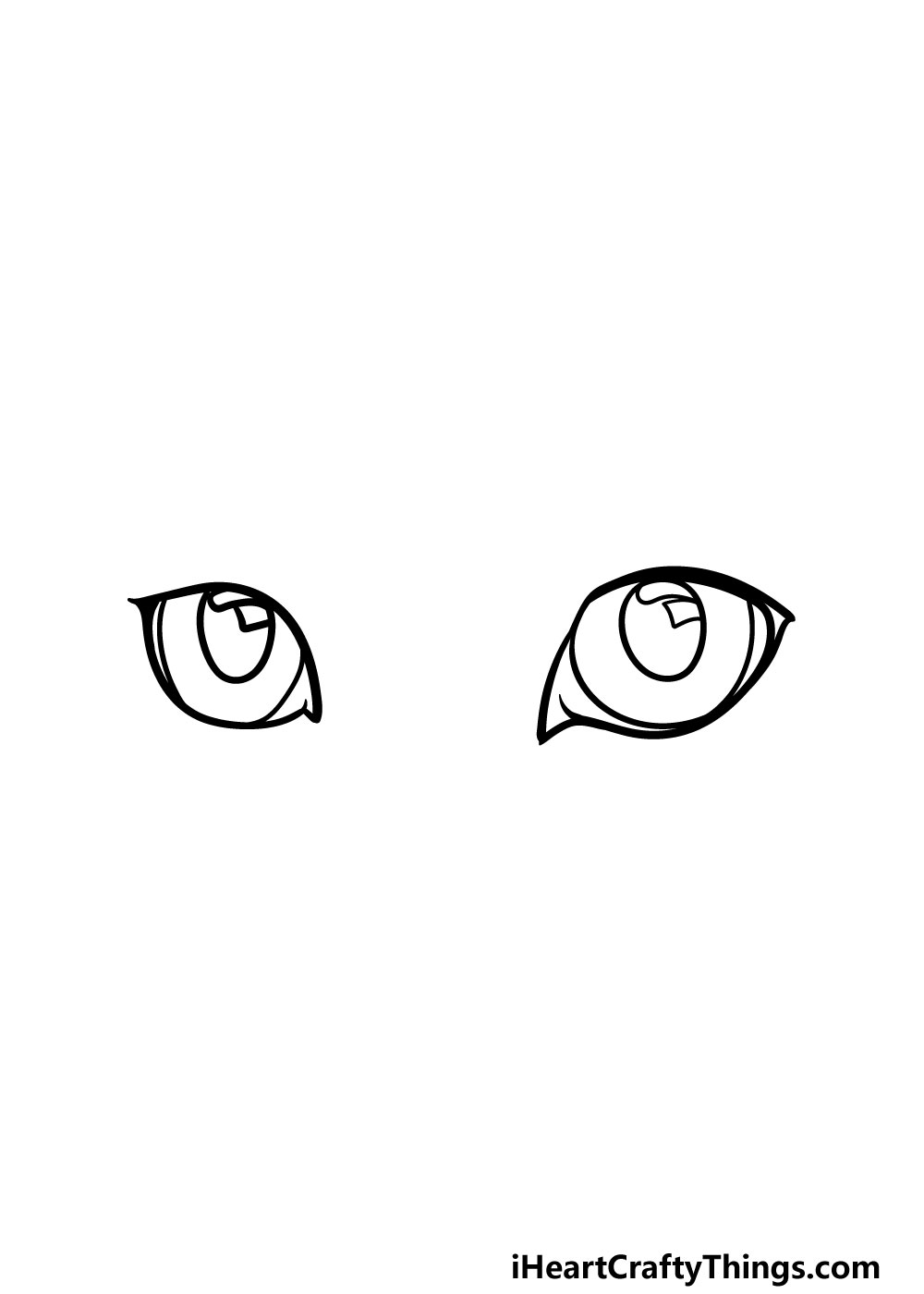 drawing cat's eyes step 4