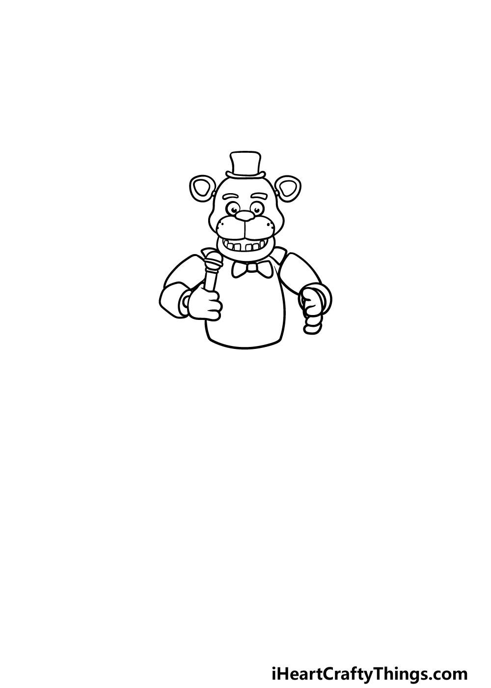 drawing Freddy Fazbear step 4