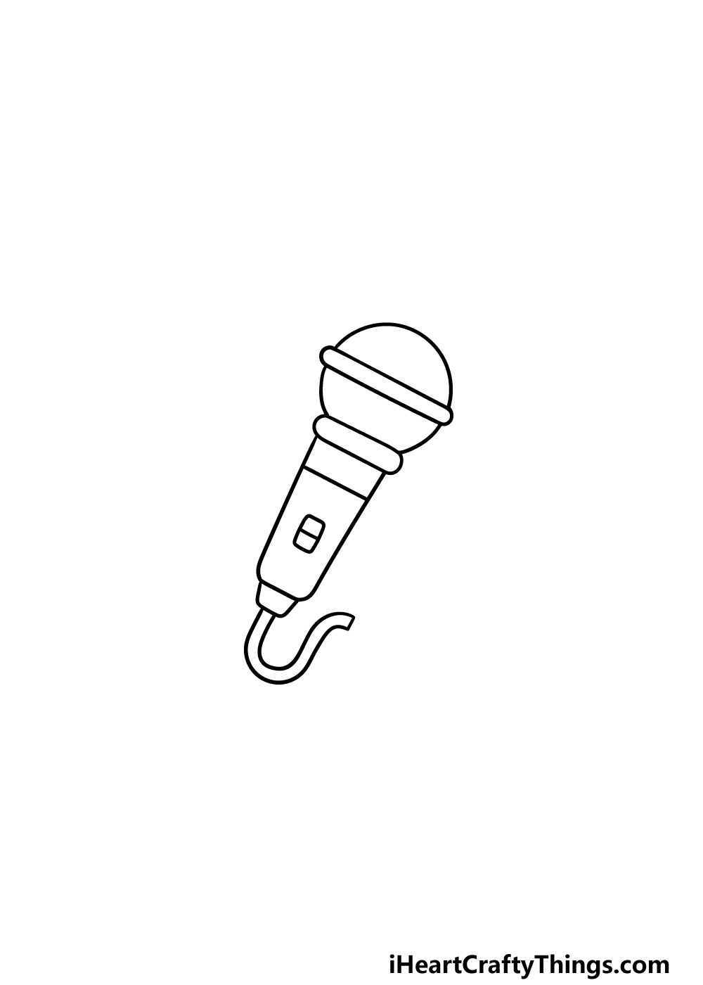 drawing a microphone step 4