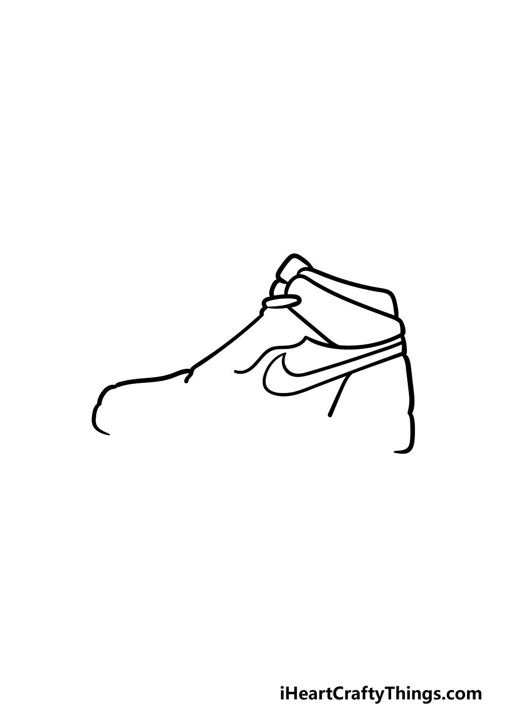 drawing air jordan shoes step 4