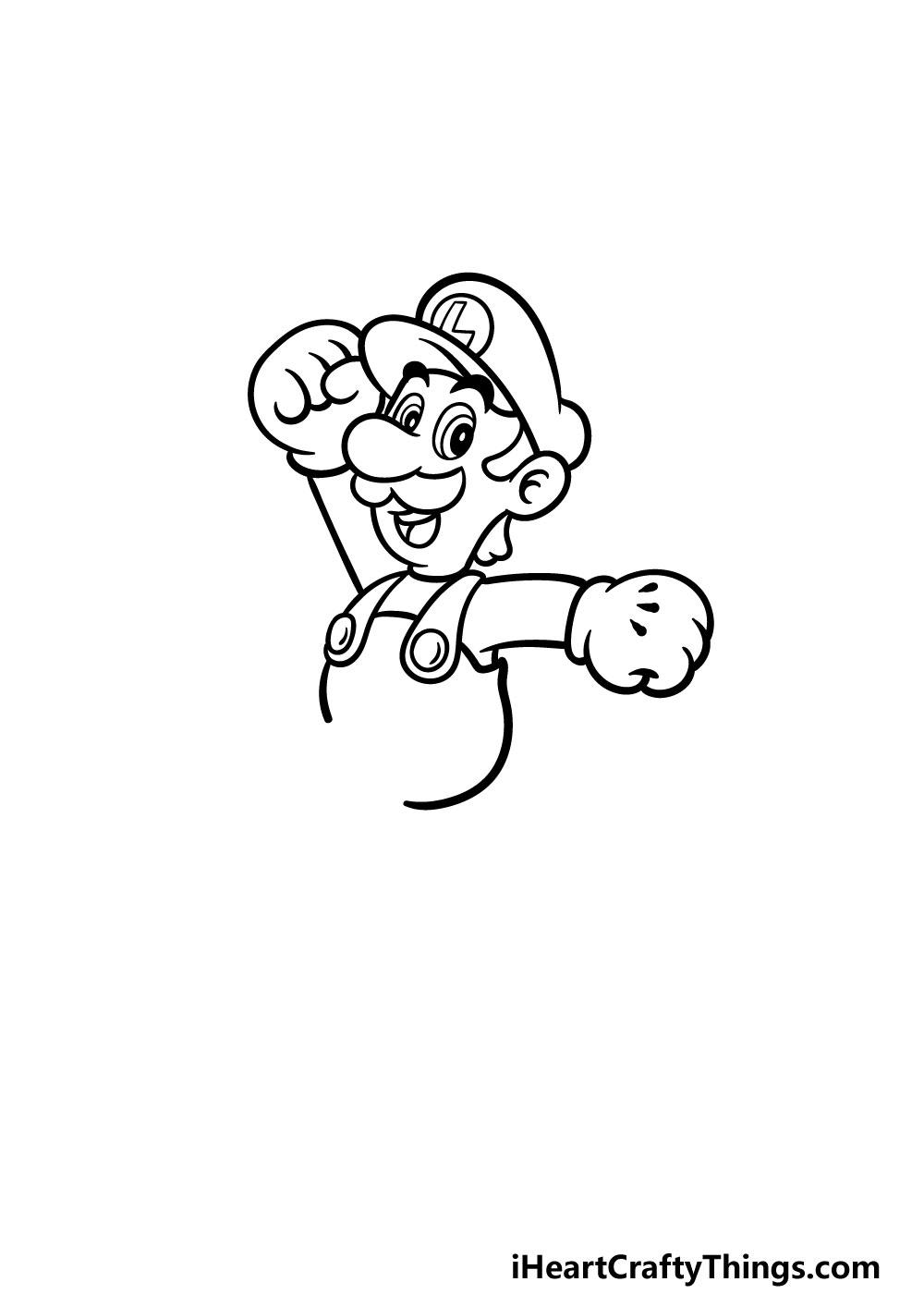 drawing luigi step 4