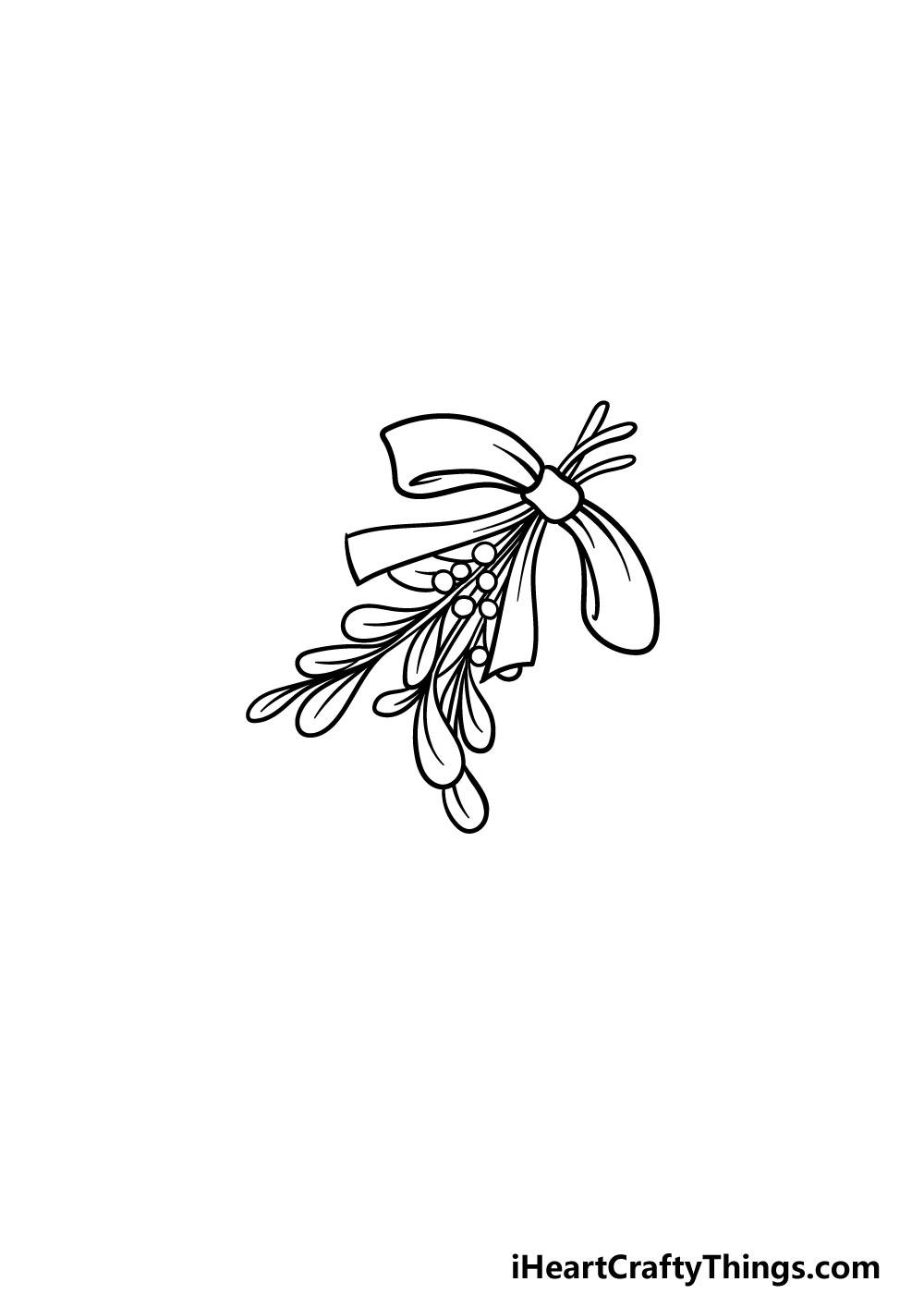 drawing a mistletoe step 4