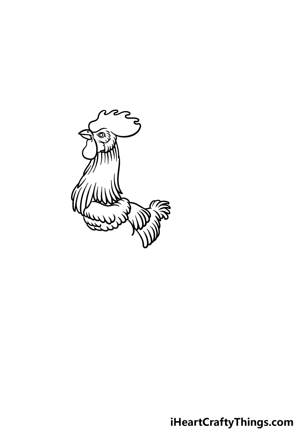 drawing a rooster step 4